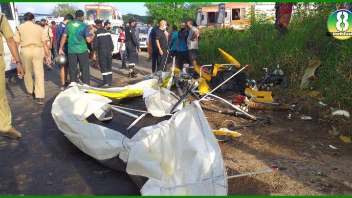 नाैसेना का पावर ग्लाइडर क्रेश, दाे अधिकारियाें की माैत